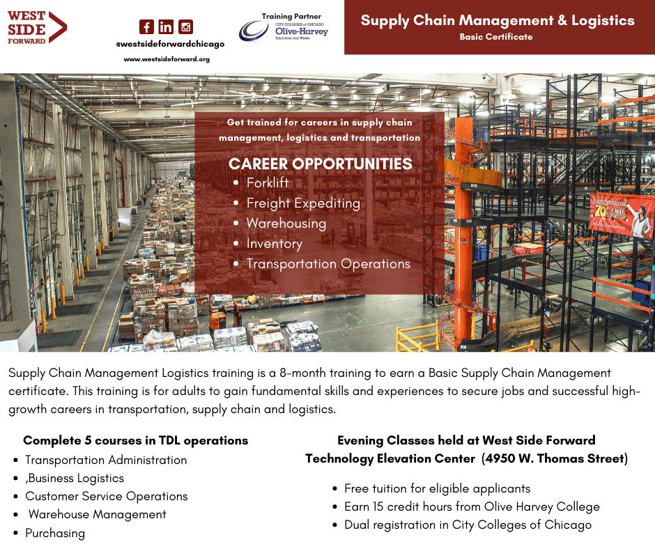 OLIVE HARVEY COLLEGE + WEST SIDE FORWARD SUPPLY CHAIN MANAGEMENT TRAINING
