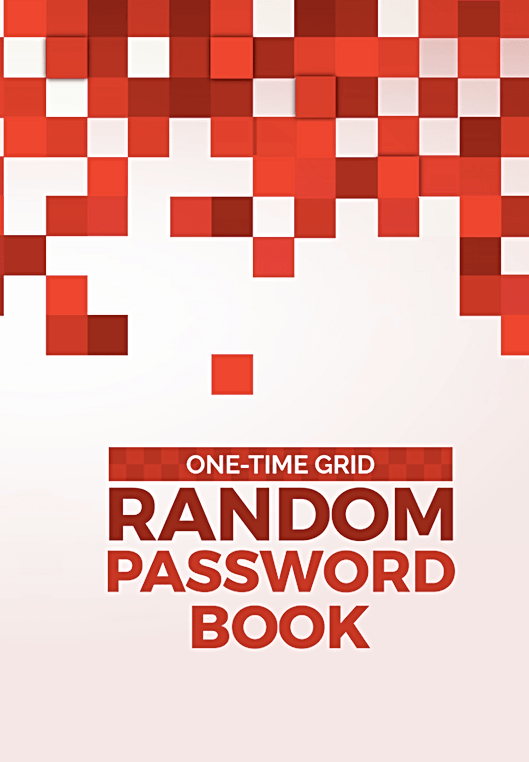 One Time Grid Random Password Book
