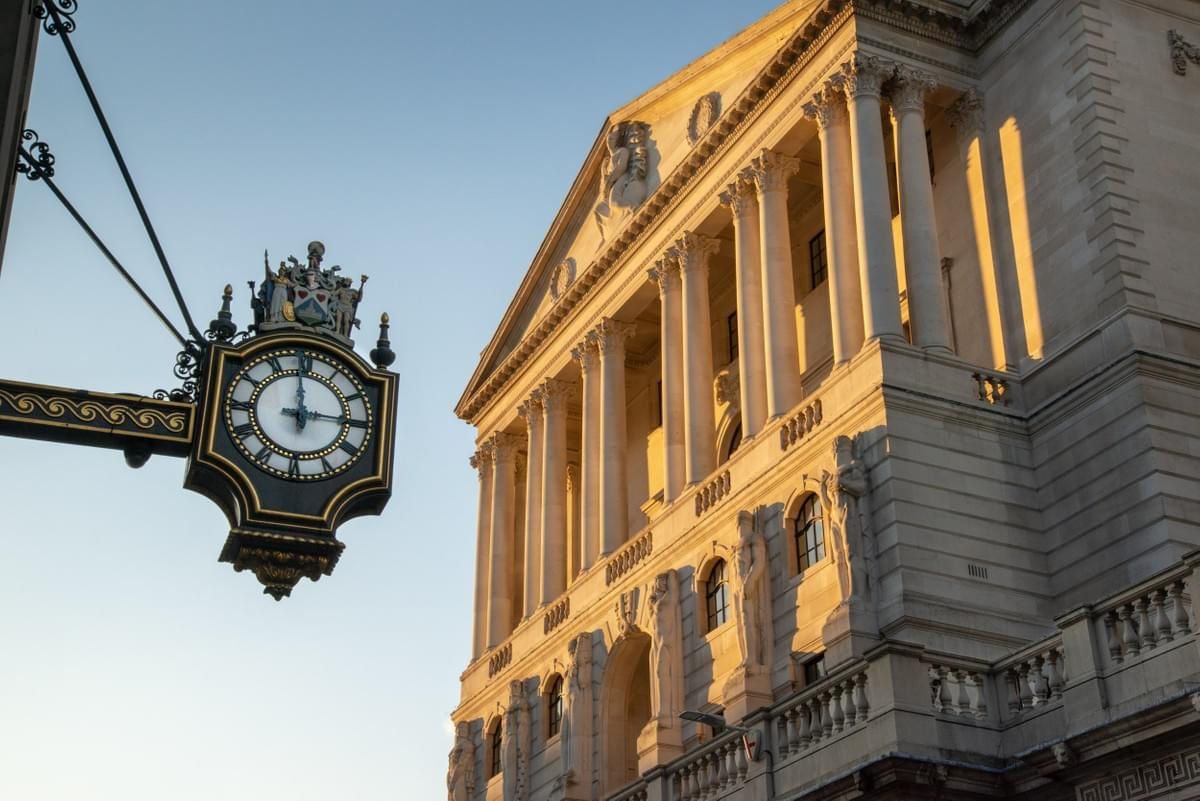 The golden light against The Bank of England, Threadneedle Street