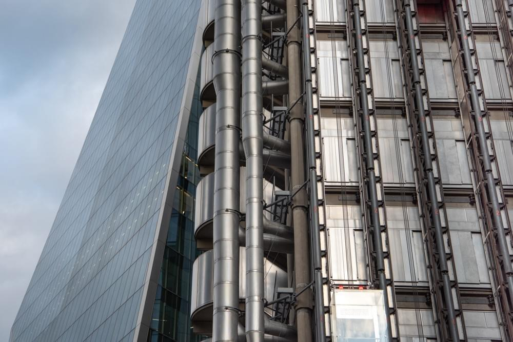 LLoyd's of London and behind Willis Towers