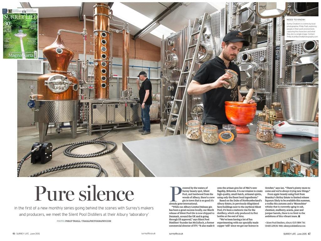 pure silence gin pool distillers surrey
