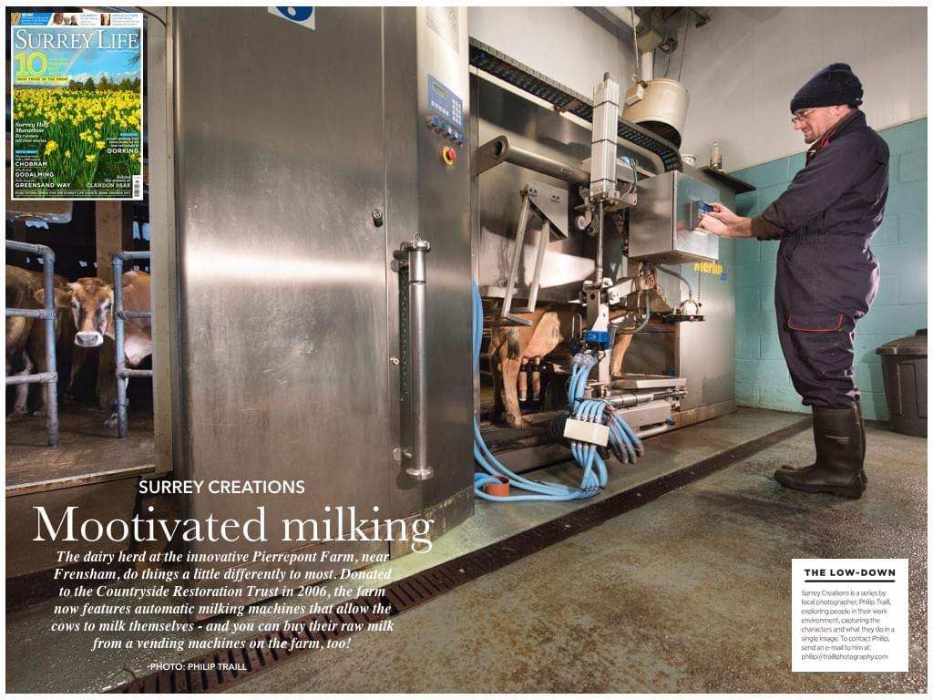 milking surrey creations surrey life magazine philip traill photographer