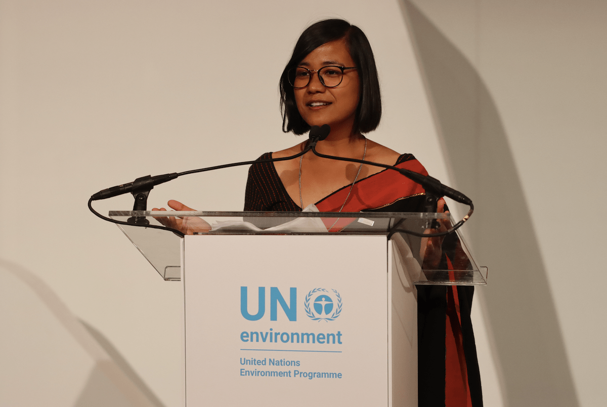 UNEP, Young Champion of the Earth Sonika Manandhar