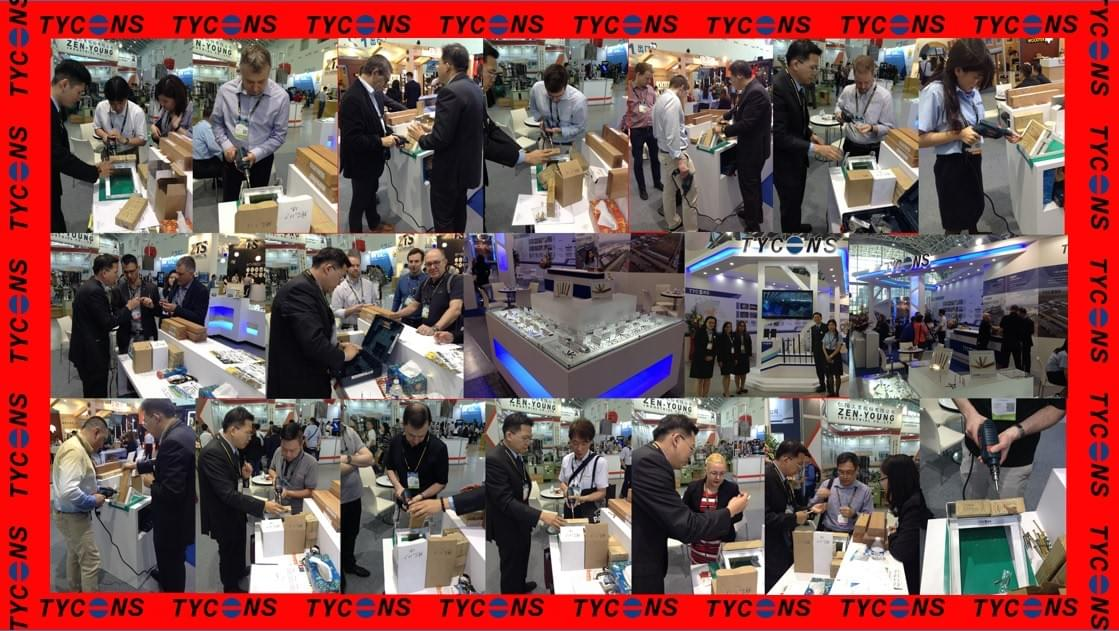 Fasteners show in Taiwan 2018. Tycoons Group promote the new screws item for international buyers.