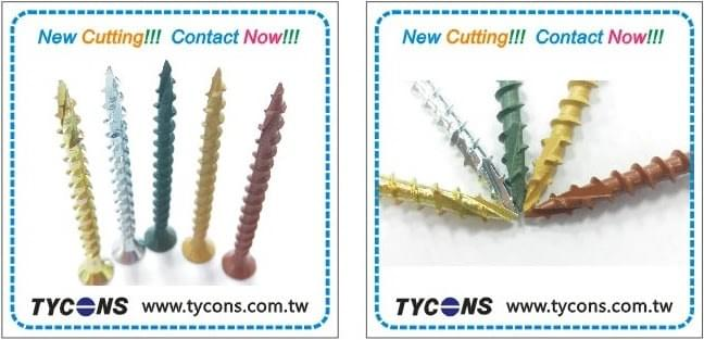 wood screws with cutting design. Coating and RoHs plating are available