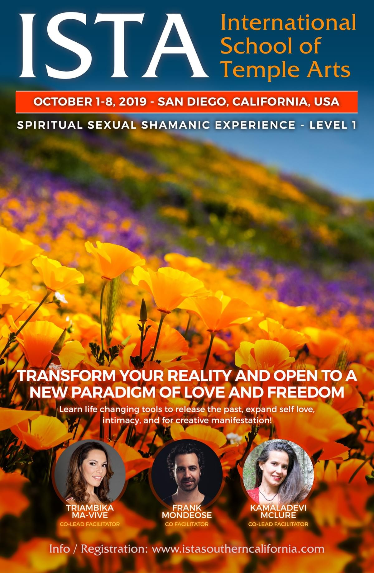ISTA Spiritual Sexual Shamanic Experience Level 1 ♡ San Diego ...