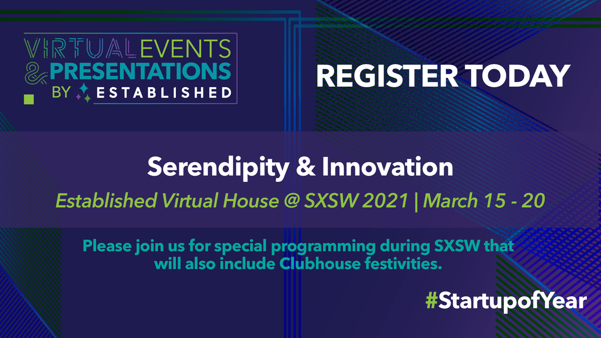 Sign-up for updates for Established's SXSW online programming and Clubhouse events.