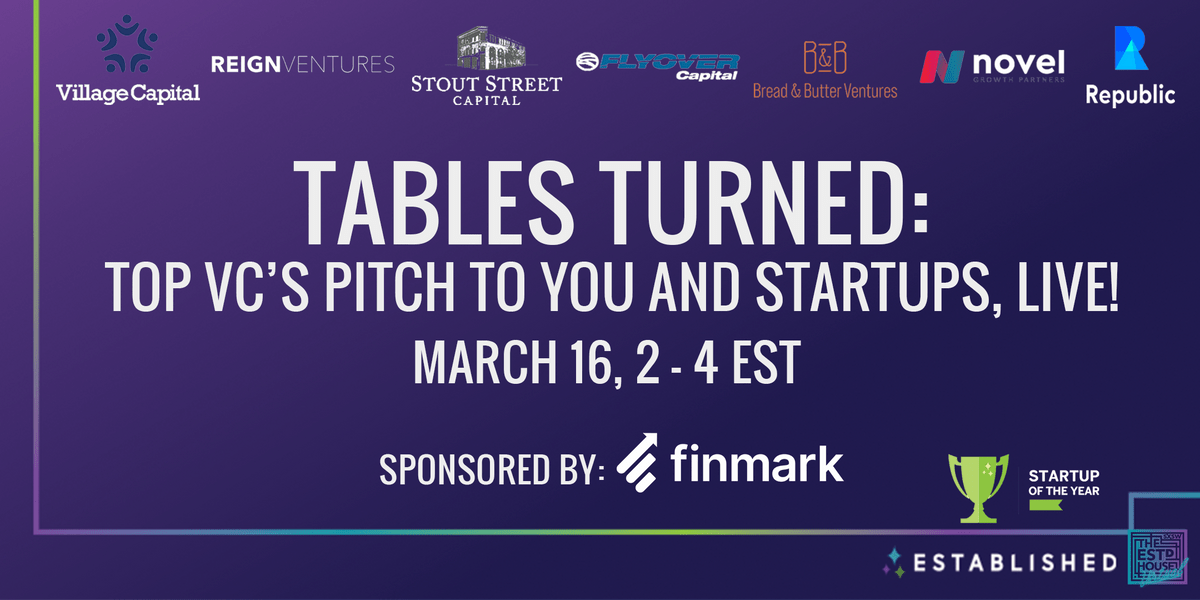 RSVP for Established's Venture Capital Reverse Pitch Event on 3/15/21.