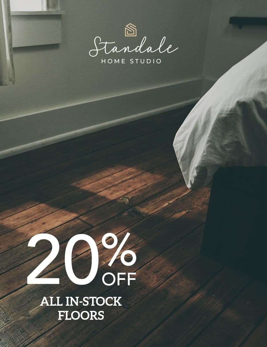 20% off all in-store flooring.