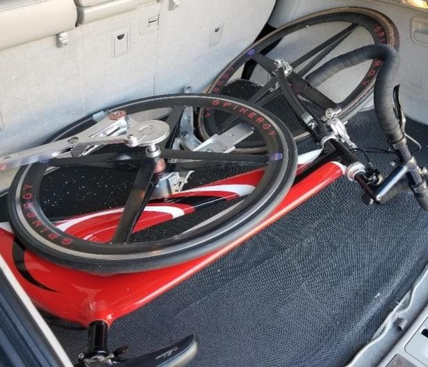NuBike, now in a Kickstarter Campaign, easily fits inside a car trunk.