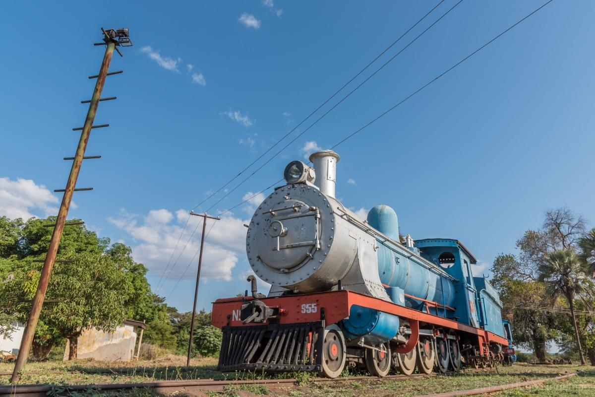 Old Locomotive at the Railway Musuem in Livingstone, Zambia.  Picture taken by Hugo Lingeman