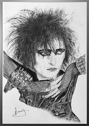 Dessin de Siouxsie Sioux, Siouxsie and the Banshees