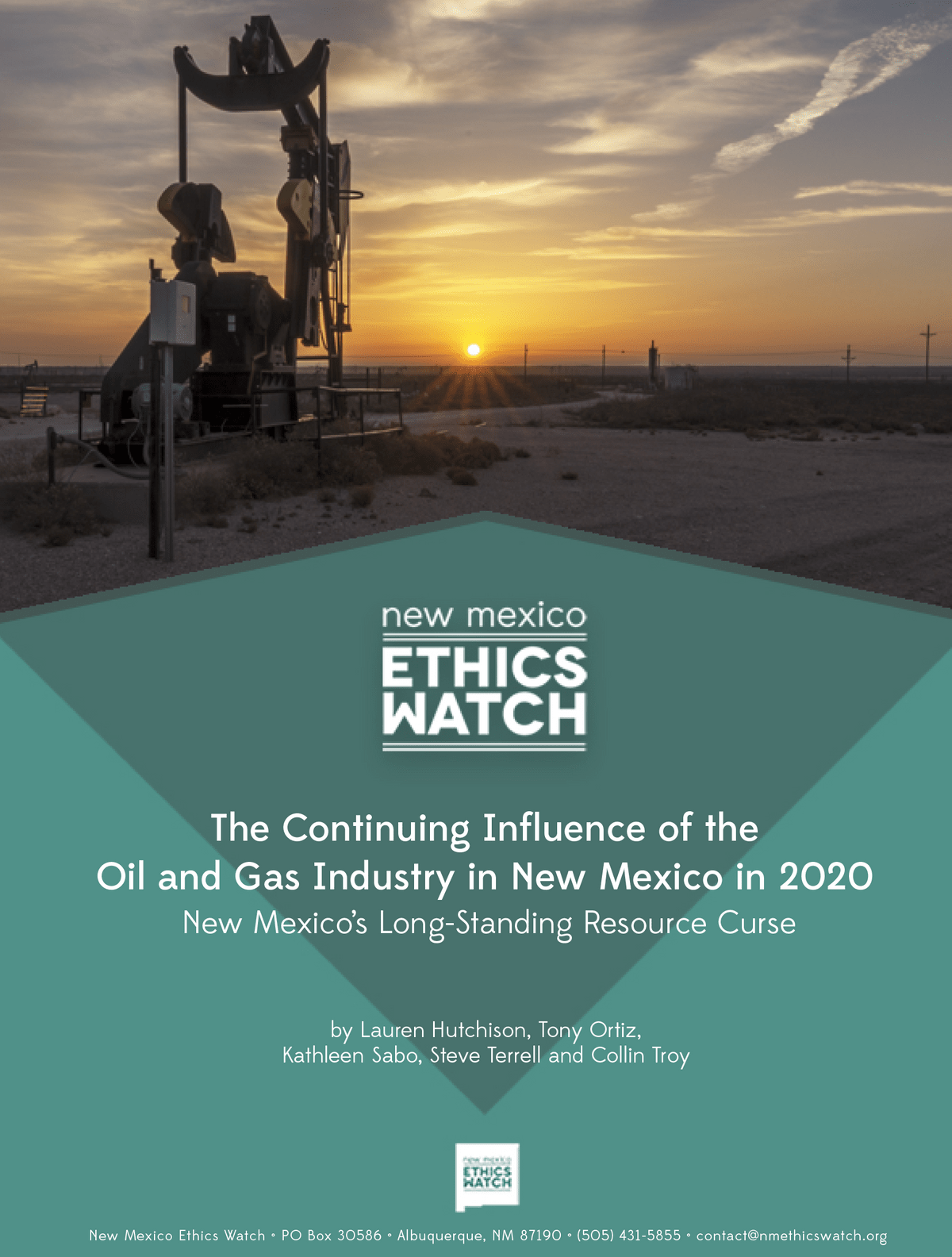 New Mexico Ethics Watch Report on Oil and gas influence  in campaigns