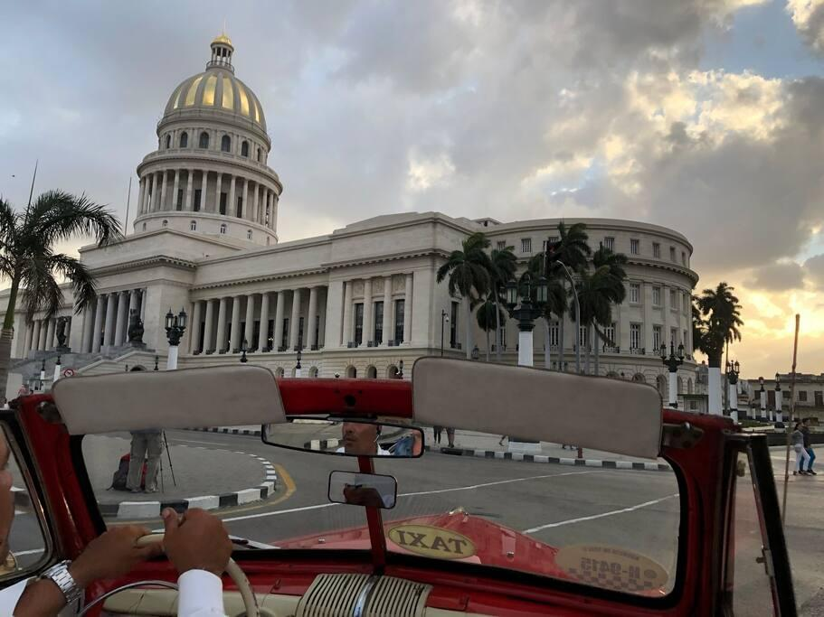 The Cuban National Capitol Dome looks very splashing after a full restoration.