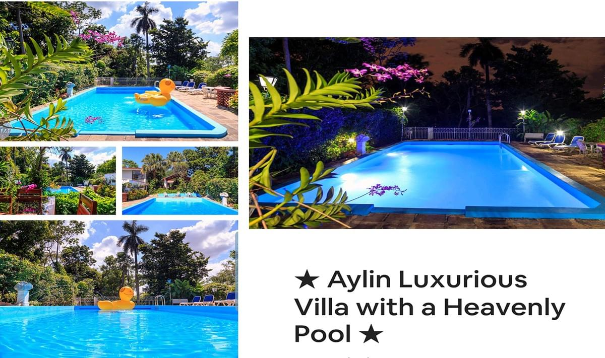 Aylin Luxurious Villa, in Siboney, about 20 minutes from historic Old Havana