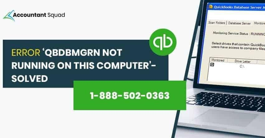 Qbdbmgrn Not Running on This Computer