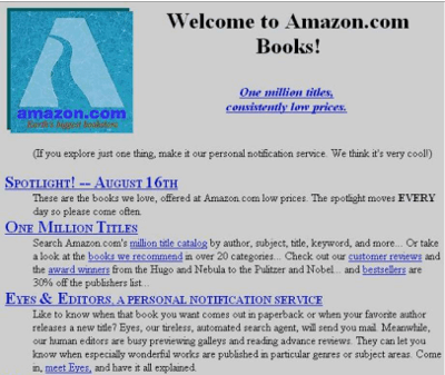 The state of the aws machine learning universe London - Amazon.com offering personalised content in 1995