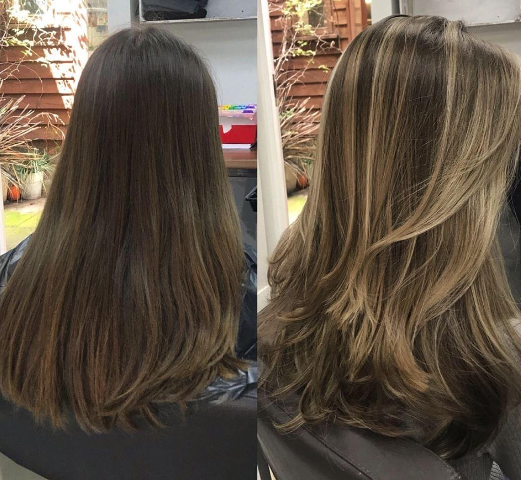 Enigma Hair before and after