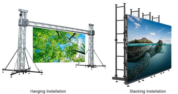 indoor rental led display installation