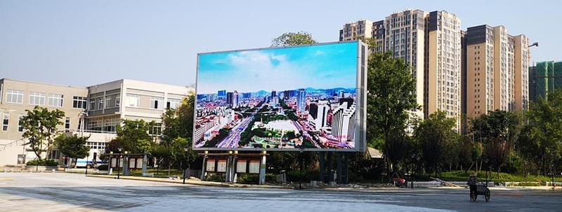 Column billboard LED display