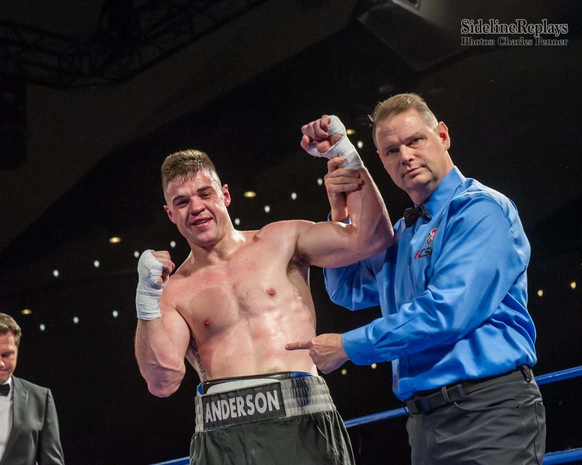 (Above) Blake Anderson now 2-0 by defeating Ruben Mejia - Photo Charles Penner