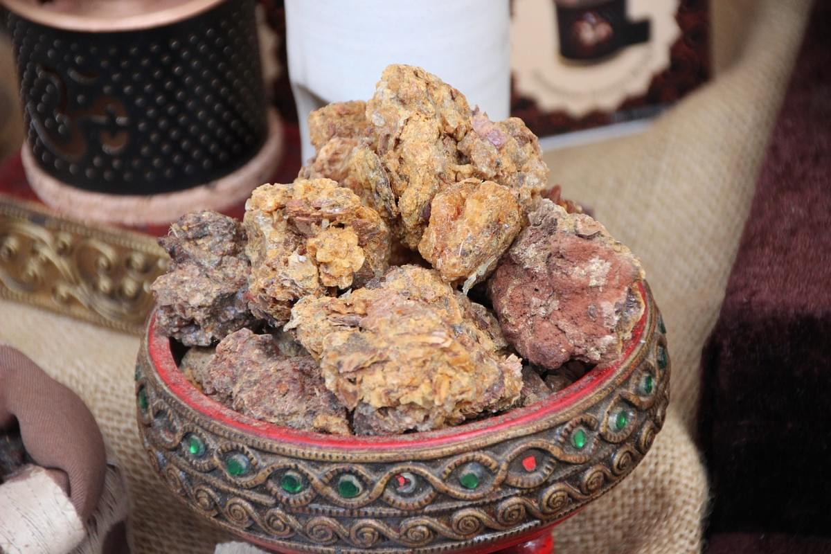 Myrrh sitting in a dish Myrrh is used for immune suppressed conditions in herbal medicine