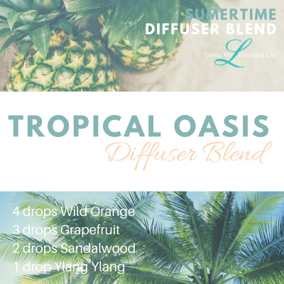 The tropical oasis diffuser blend is a perfect summertime diffuser blend