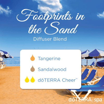 Begin your summer day with this earthy blend of Footprints in the Sand diffuser blend.