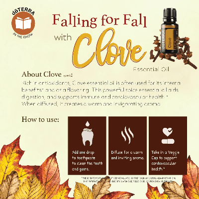 Falling for fall with clove essential oil.