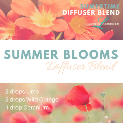 The Summer Blooms diffuser blend is a summer smell taking you on a walk through a field of flowers.