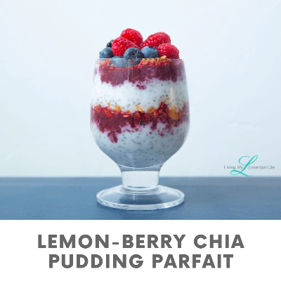 This Lemon Berry chia pudding parfait makes a great Healthy Summer Treat