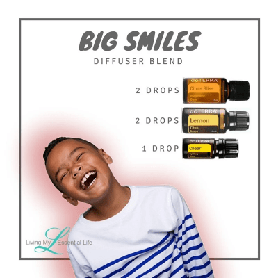 Spread the smiles through your house with this Big Smiles Diffuser Blend.