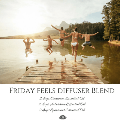 Make everyday free like a friday with this friday feels diffuser blend.