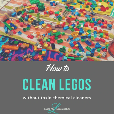 How to clean legos without toxic chemical cleaners.