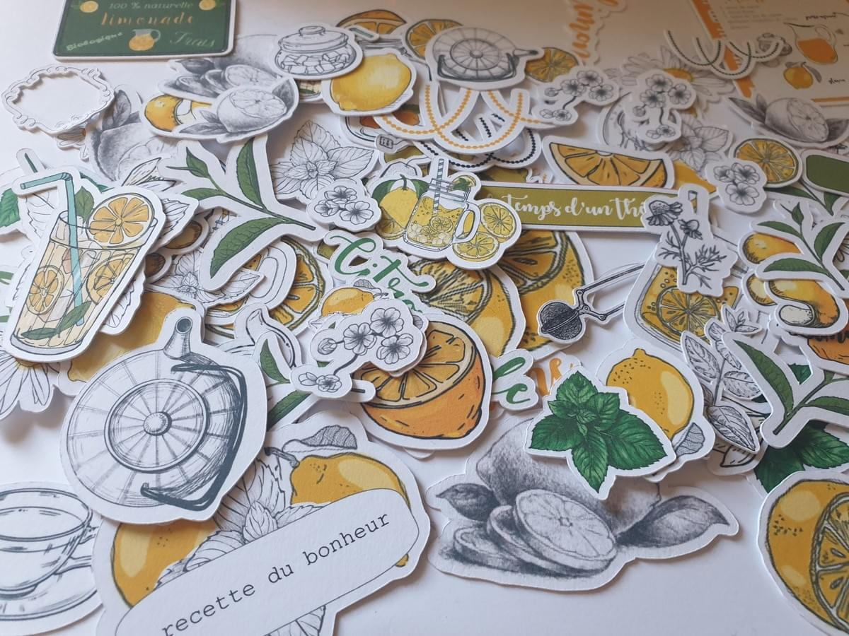 Margaux creation scrapbooking - boutique en ligne - die cut collection citron limonade- mai 2019 - papeterie