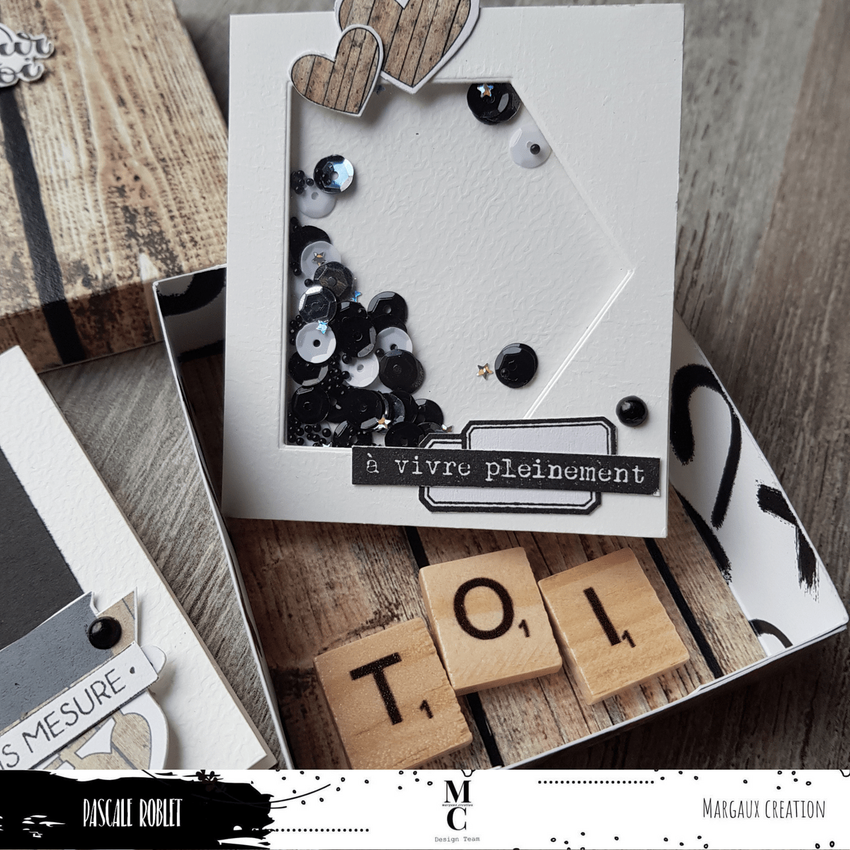 margaux creation scrapbooking - DT Pascale Roblet Carterie
