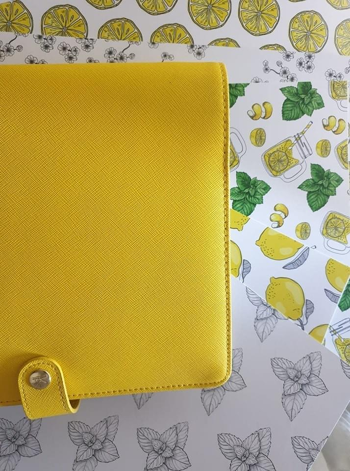 margaux creation - scrapbooking - Planner addict- collection  limonade- yellow kikki-k