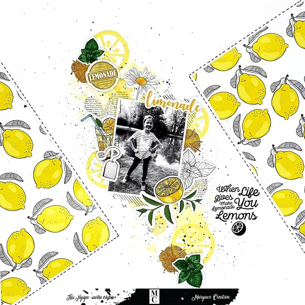 COLLECTION LIMONADE - INVITEE CREATIVE THAI NGUYEN - SCRAP & PAPER - MARGAUX CREATION