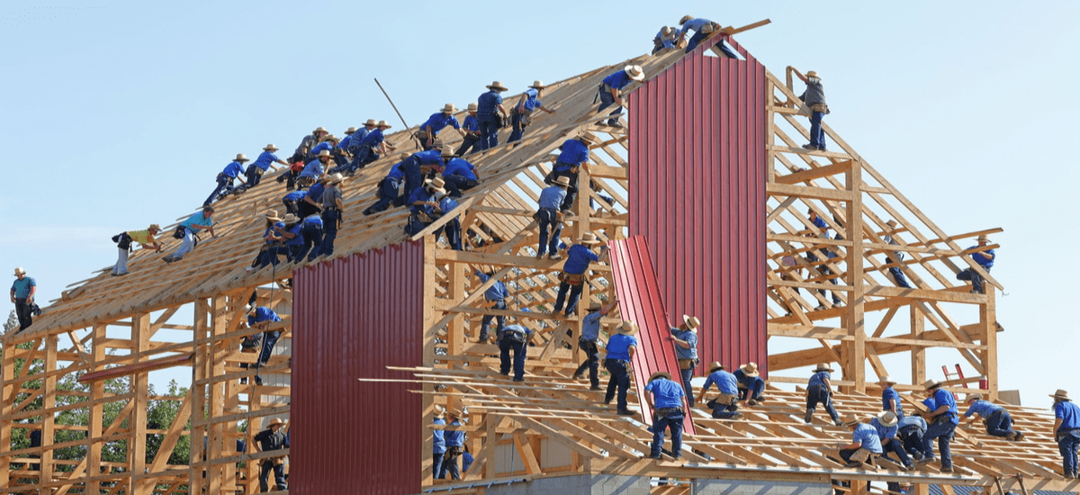 Building a corporate team is like building a construction site
