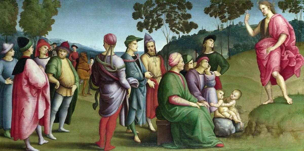 Saint John the Baptist Preaching. Raphael, 1505. The National Gallery. Web. 23 September 2019.