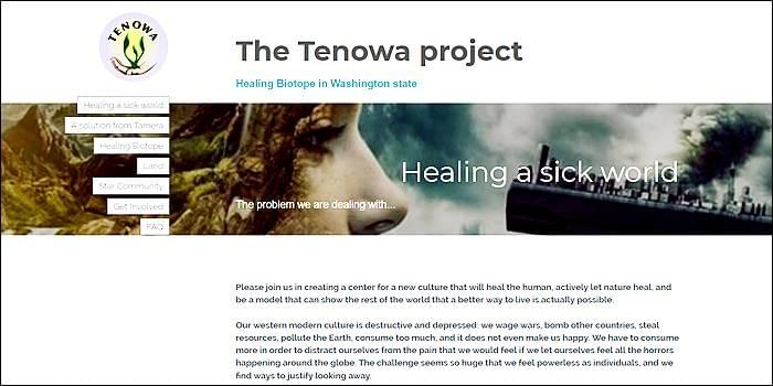 Terra Nova Washington, Tenowa Project, Healing Biotope in Washington State, Tamera, Possibility Management