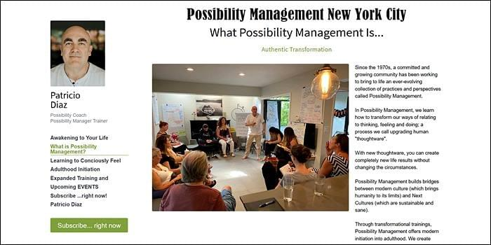Possibility Managers, StartOver.xyz, Possibility Management in New York City