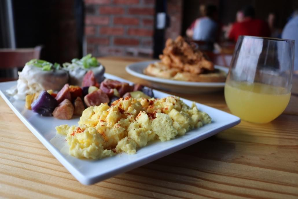 You may have spent some time here the night before! The George Jones serves as a bar and restaurant that now serves up some DELISH brunch!