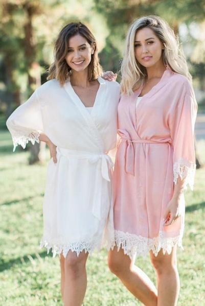 If you're including a glam sesh or spa day in your bachelorette weekend, these satin robes are super soft and a beautiful addition to your day of R&R!