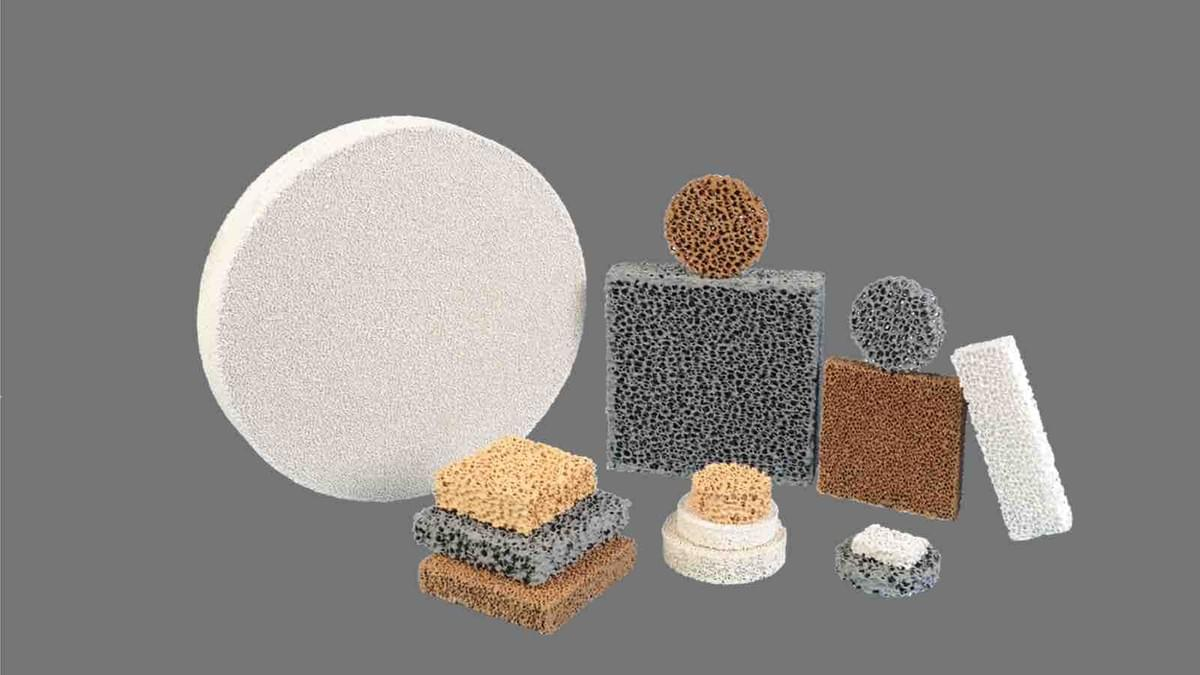 different types of ceramic foam filters