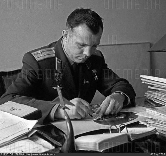 Youri Gagarin's letter to his wife Valentina