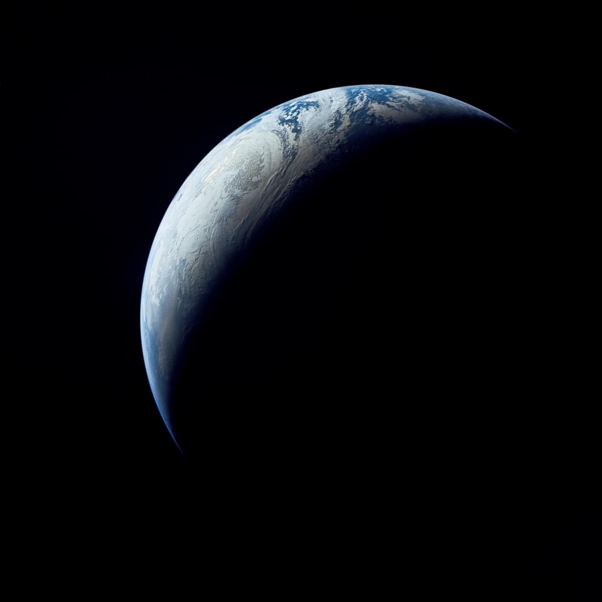 Earth as Viewed From 10,000 Miles from Apollo 4