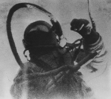Leonov was the first human to walk in space on Voskhod 2
