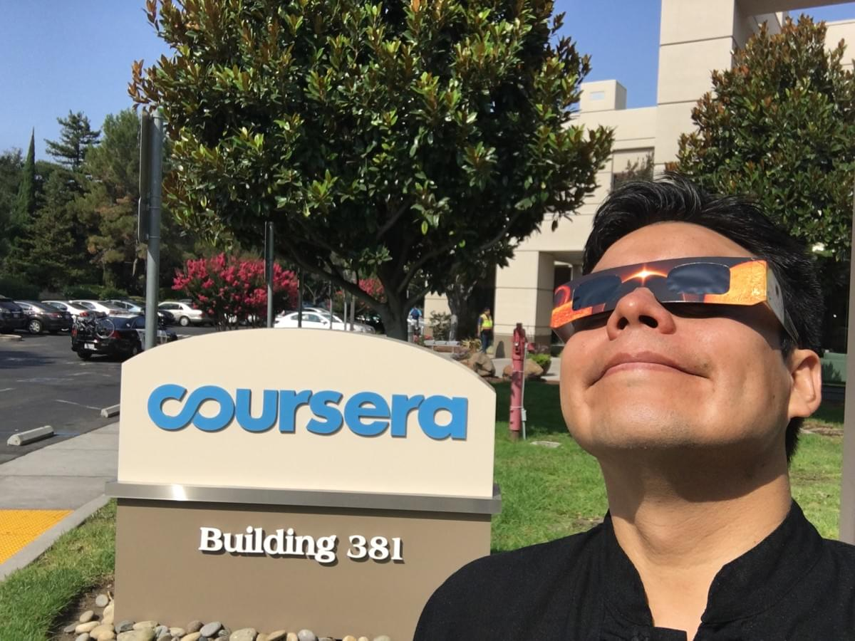 Witnessing my first solar eclipse on August 21, 2017