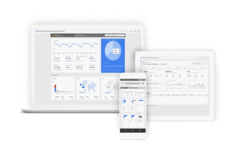 Google Analytics screen with graph